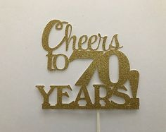 Your place to buy and sell all things handmade 70th Birthday Parties, 75th Birthday, Mom Birthday, Birthday Celebration, Bithday Cake, Birthday Cake Toppers, Sunflower Party Themes, Glitter Cake, Reveal Parties