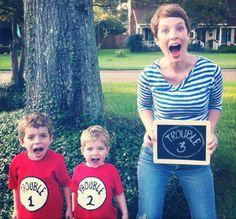 Genial idea para anunciar a tu familia y amigos la llegada de un nuevo bebé