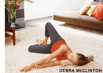 yoga for neck and back pain from Yoga for Stress Relief DVD