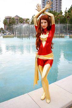 Jean Grey as Dark Phoenix cosplay. Cosplay Outfits, Cosplay Girls, Cosplay Costumes, Halloween Costumes, Fantasy Costumes, Cosplay Ideas, Halloween Ideas, Jean Grey, Xmen
