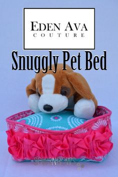 Snuggly Pet Bed pattern review | SewsNBows