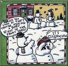 Hilarious winter snowman humor for adults only.