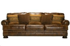 north shore collection luxurious traditional leather sofa with show wood accent living room pinterest ashley furniture chicago leather sofas and - Ashley Leather Sofa