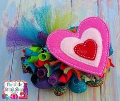 Hearts Oversized Feltie   What's New   Machine Embroidery Designs   SWAKembroidery.com The Little Stitch Shop