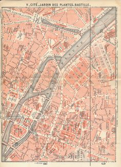 Original 1924 street map of Paris, France. This map was sourced from an 1924 travel guidebook, and measures approximately 8.5 x 6.25 inches. Blank on the reverse side.  Overall the map is in excellent condition. The map has two slight creases where it folded into the guidebook. Most antique maps have some flaws due to age, so please examine the scans carefully. Antique city and region maps make great gifts! This is an original antique map from an 1924 travel guidebook, not a modern…