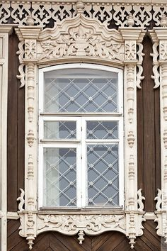 tradtional window, novosibirsk city, russia