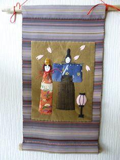 ※古布で表現しましたおひなさまのタペストリー  ボンボリ飾りと花びらを散らし春のひな祭りを  祝ってください。  帯地や布押絵の生地は古布を使用しています。... ハンドメイド、手作り、手仕事品の通販・販売・購入ならCreema。