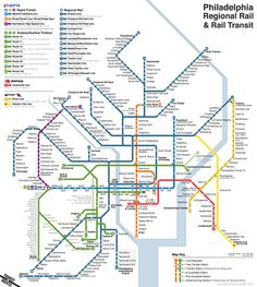 Unofficial Map SEPTA Philadelphia PA Regional Rail And Rapid - Philly septa map