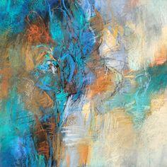 Blue World, 14x14 pastel on paper by Debora L. Stewart  http://www.deboralstewart.com
