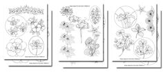 Woodburn beautiful flowers with the new Pre-Printed Stick n Burn Wildflower Designs