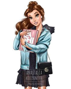 Belle for Gucci - Mara E. Belle Disney, Disney Princess Fashion, Disney Princess Pictures, Disney Princess Drawings, Disney Princess Art, Disney Fan Art, Cute Disney, Disney Pictures, Disney Drawings