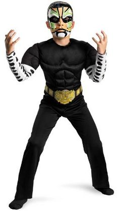 Tna Impact Wrestling Jeff Hardy Classic Muscle Costume, Black/White/Green, Medium Disguise. $24.49