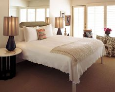 I like this room a lot and the high bed brings a special effect to it.