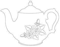 vintage teapot outline - Google Search