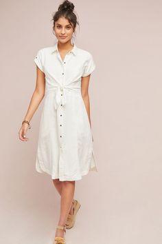 Slide View: 1: Elspeth Linen Shirtdress
