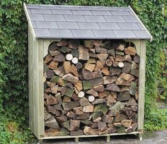 At 5 foot wide and nearly 2 metres high overall, the Okeford log store offers plenty of space to store and aerate your logs over those cold and wet months. Small Buildings, Garden Buildings, Garden Cabins, Wood Storage Sheds, Log Store, Logs, Construction, Space, Design