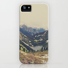 Society6 Mountain Flowers iPhone Case