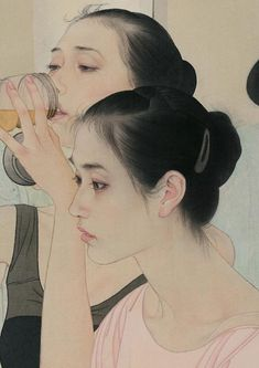 "Detail of ""Ballerinas"" by He Jiaying"