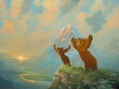 Brother Bear _ 18x24 _ Rob Kaz