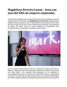 Magdalena Ferreira Lamas - Avon con más del 50% de mujeres empleadas