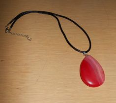 Red Beauty/Genuine red agate pendant by CreationsbyMaryEllen