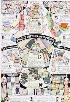 Love these vintage 30's fabrics--and the prices!