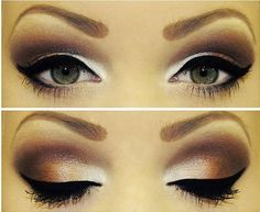 Brown smokey eye shadow