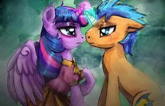 Twilight Sparkle and Flash Sentry are helpless by the river Art ...