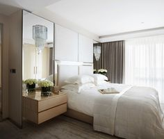 Brighten your bedrooms with mirrors above night stands. (20 Photos)