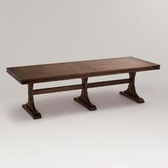 One of my favorite discoveries at WorldMarket.com: Monroe Dining  Table. Will fit four on each side and 2 at the heads.