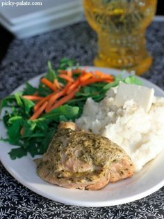 Crock Pot Pesto Ranch Chicken Thighs 2 Yummiest recipe! The chicken thighs for so tender they melt in your mouth.