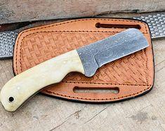 Black Kilt, Handmade Chef Knife, Handmade Kitchens, Tool Steel, Damascus Steel, Bones, Gifts, Leather, Knives