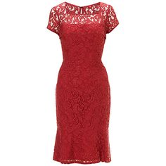 Adrianna Papell Lace Fishtail Dress