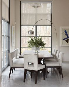 Monochromatic Dining Room.   Photo: Andreas Trauttmansdorff. Designer:Julie Charbonneau. From Canadian House and Home magazine.