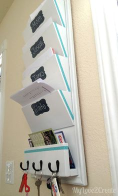 tutorial to make my own Family File System. NEED ONE OF THESE because my magnetic one from Target is cute, but not big enough!
