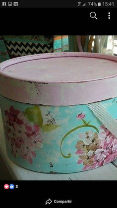 Nifty Crafts, Diy And Crafts, Paper Mache Boxes, Hat Boxes, Tole Painting, Creative Home, Storage Containers, Home Crafts, Decorative Boxes