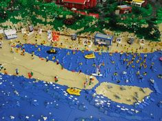 Lego-Langeoog – by Andreas Boeker | Water option when not looking to cover the baseplates entirely.
