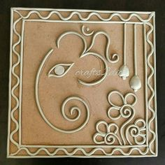 Ideas painting elephant canvas ideas for 2019 Clay Wall Art, Mural Wall Art, Mural Painting, Art N Craft, Craft Work, Diy Art, Ganesha Painting, Clay Ganesha, Clay Art Projects