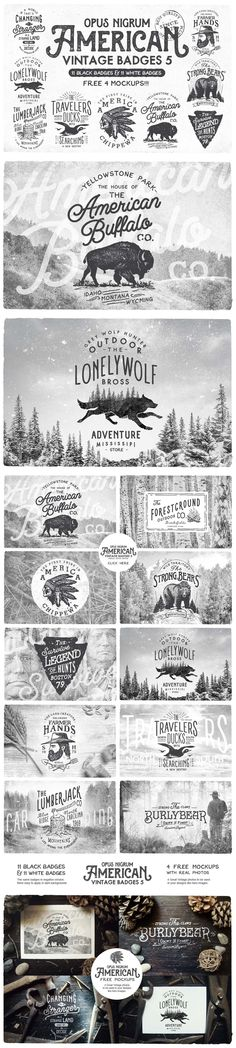 American Vintage Badges #design Download: https://creativemarket.com/OpusNigrum/163961-American-Vintage-Badges-5?u=ksioks