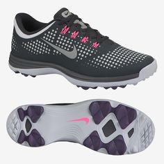 Nike Lunar Empress Women's Spikeless Golf Shoes - Grey/Pink 1244127