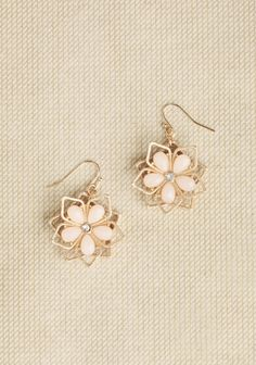 Just Blush Flower Earrings at #Ruche @shopruche