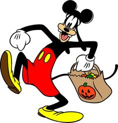 disney goofy halloween | Funny Disney Halloween Clipart: Goofy the cartoon dog is high stepping ...