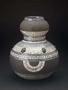 www.africaandbeyond.com Raku Ceramic Pot - fair trade from South Africa. Twin Belly, Painted Vases, Hand Painted, Safari Animals, African Art, Stoneware, Candle Holders, Pottery, Contemporary