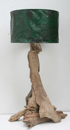 Driftwood Table Lamp,BASE ONLY 110cm tall to top of shade, Drift Wood Lamp £110.00