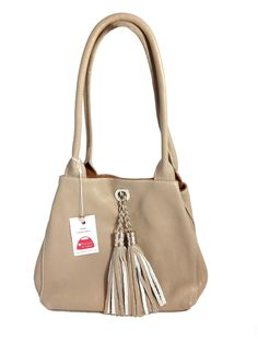 The Famke lighte taupe leather cognac suede  This beautiful reversible bag  is made in 103670af8c850