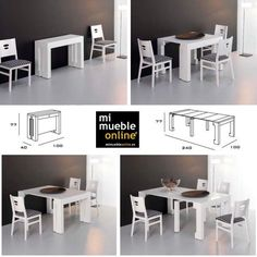 Space Saving Furniture Ideas For Small Rooms And Homes Multifunctional Furniture, Smart Furniture, Space Saving Furniture, Recycled Furniture, Furniture For Small Spaces, Furniture Design, Small Rooms, Furniture Ideas, Table Dépliante