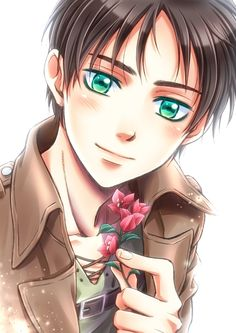 EREN LOOKS SOOO SWEET!! Not like the aggressive idiotic suicidal moron he is!!!!