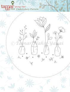 Embroidery Pattern PDF Pattern Instant Download by TamarNahirYanai.  jwt