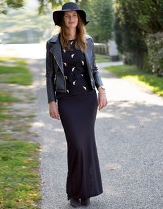 JERSEY MAXI SKIRT BLACK - www.yourownstylist.com