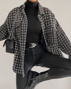 Adrette Outfits, Cute Casual Outfits, Stylish Outfits, Winter Outfits, Flannel Outfits, College Outfits, Winter Fashion Outfits, Look Fashion, Korean Fashion